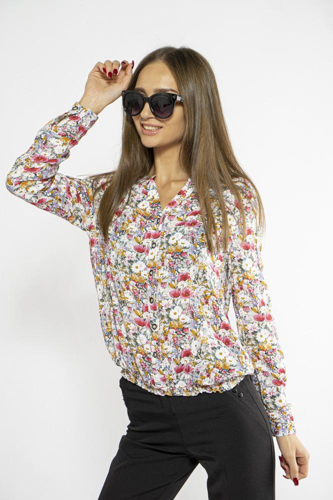 Блуза женская с цветочным принтом 118P021-6