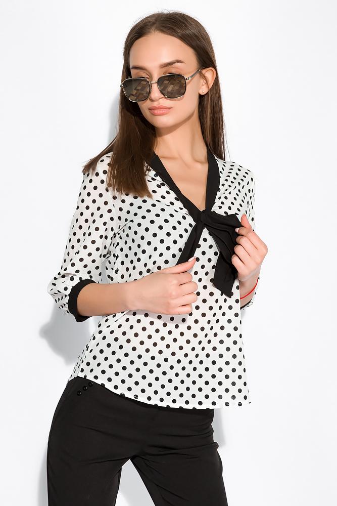 Блуза женская в горох 151PK1010