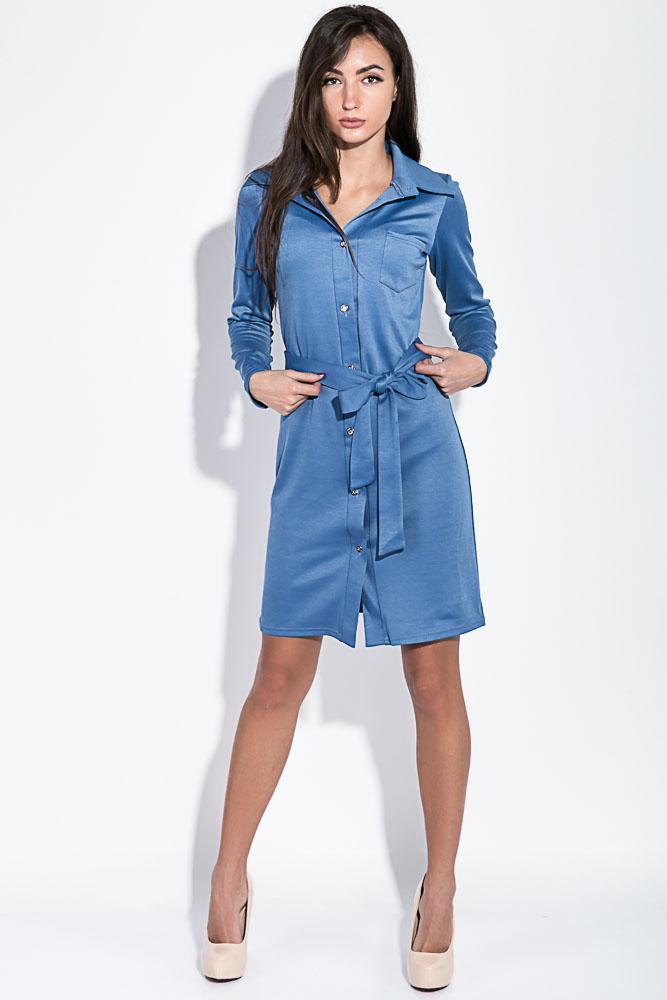 Платье-рубашка с поясом  95P4013