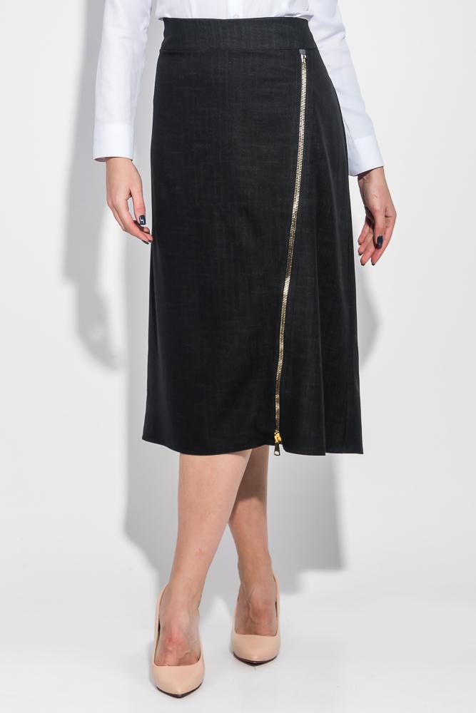 Юбка женская длинная, с молнией по диагонали 68PD542