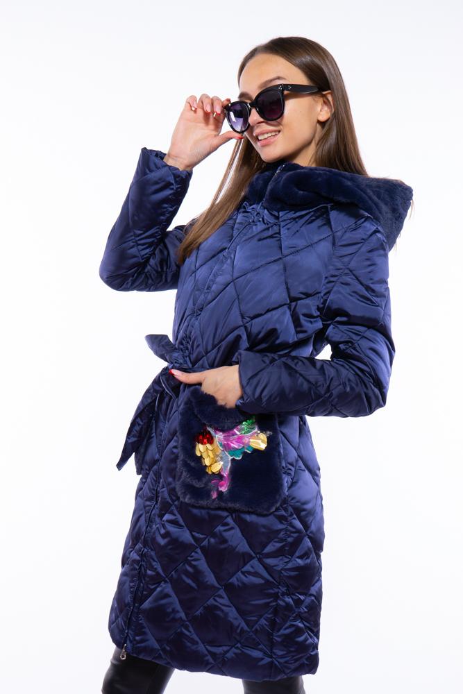 Куртка женская стеганая с аппликацией 120PSKL6739