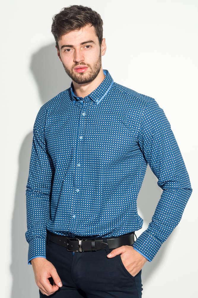 Рубашка мужская двухцветный горошек 50PD6249