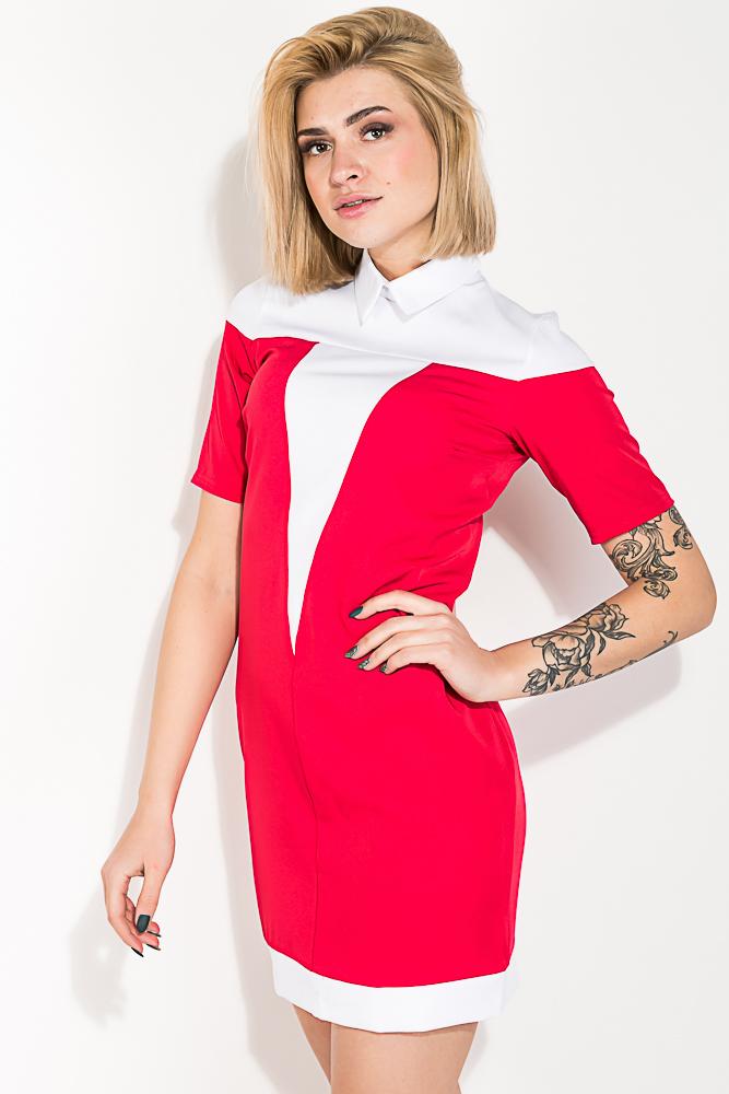 Платье женское с классическим воротничком 74P138