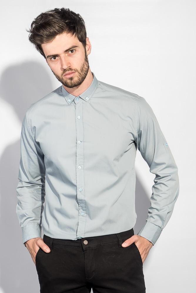 533d3003296 Рубашка с длинным рукавом однотонная №208F008 купить дешево ...