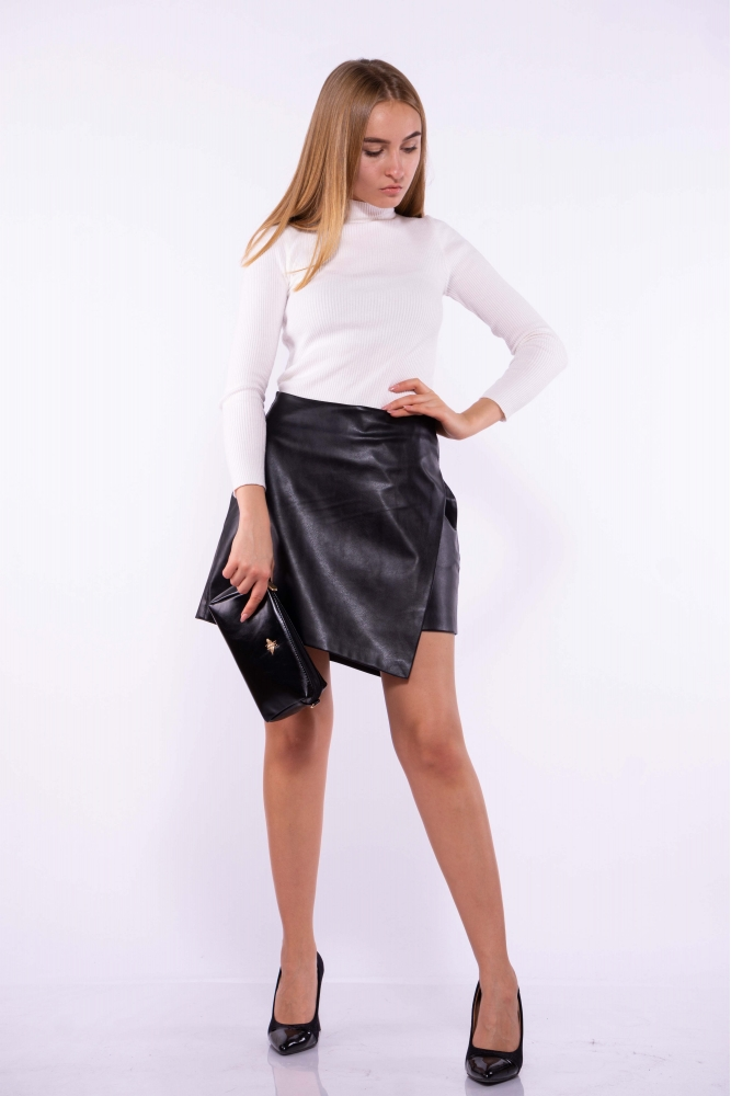 Женская юбка из экокожи 176P003