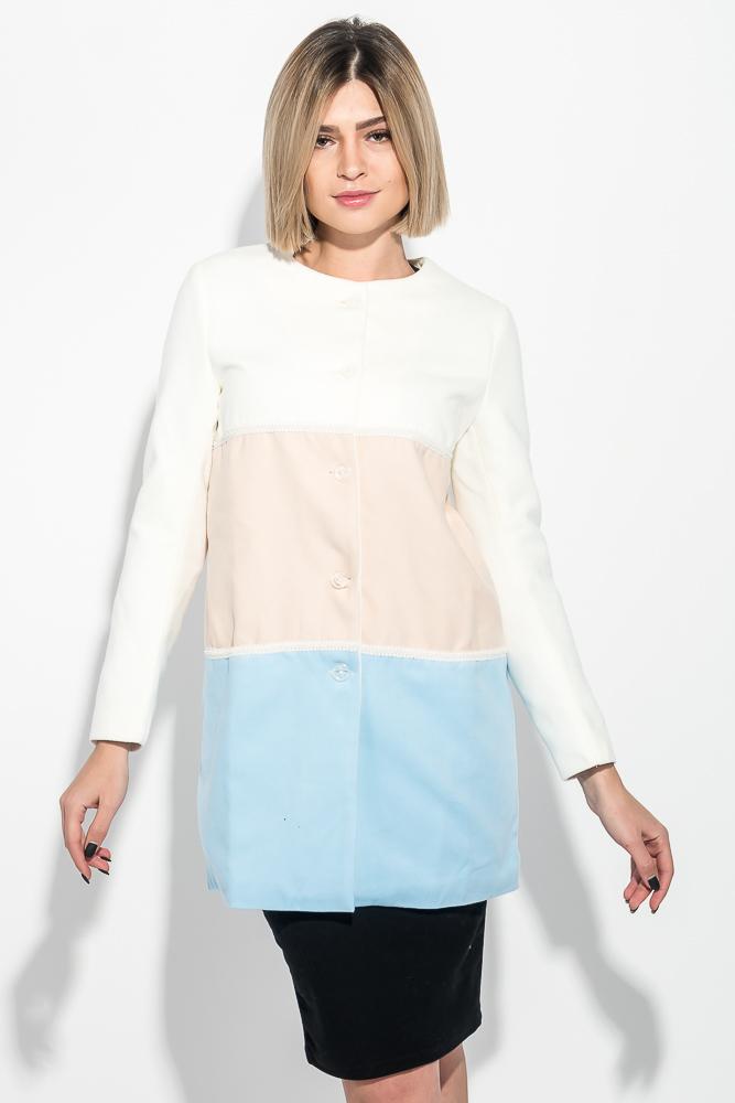 Пальто женское трехцветное 69PD829
