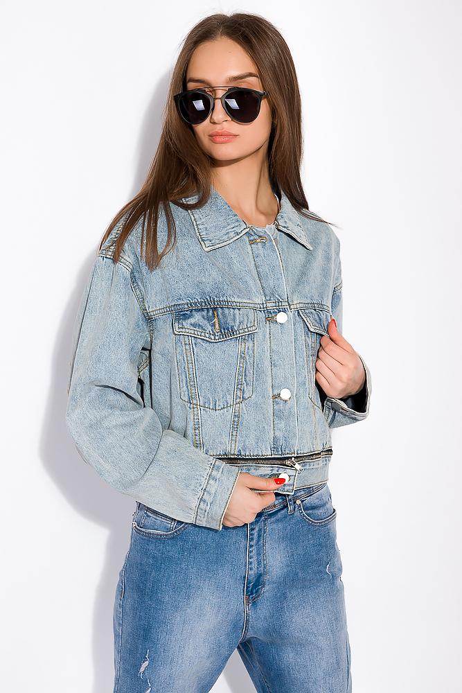 Джинсовая куртка со вставкой на молнии 120PSKL10250