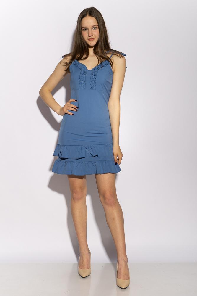 Платье с рюшами на юбке 103P006