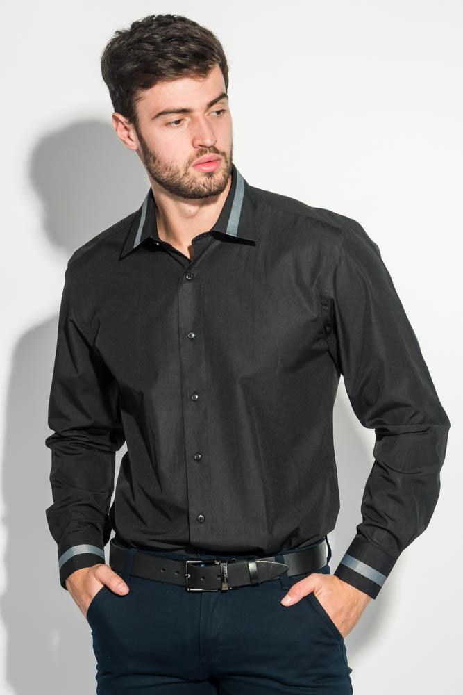 Рубашка мужская воротник с контрастной полосой 50PD0100
