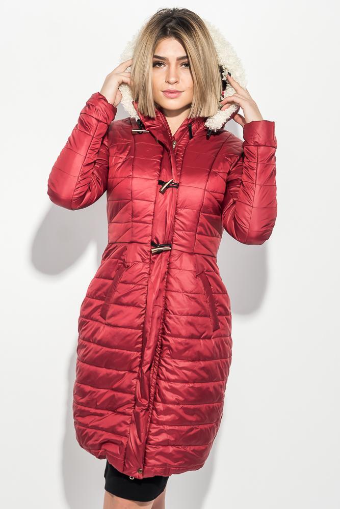 Куртка женская удлиненная, с пуговицами в виде клыка 68PD161