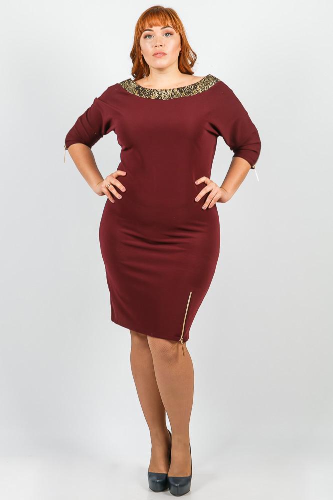 Платье женское для пышных дам 37P003