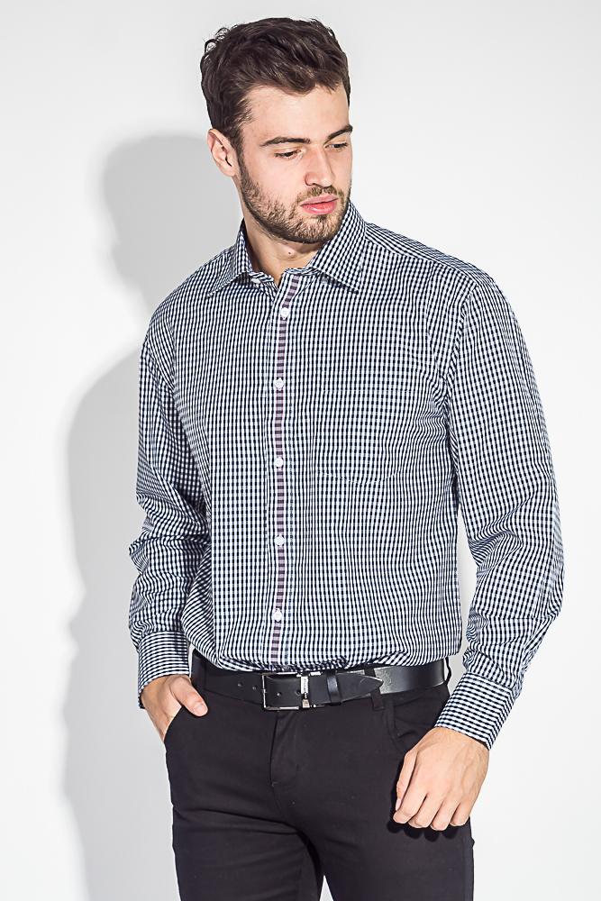 Рубашка мужская двухцветная клетка 50PD2113-1