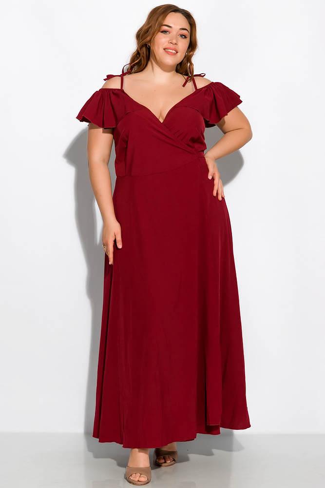 Длинное однотонное платье 120PVC1045