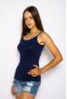 Майка женская на бретелях 620f008 темно-синий