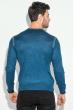Джемпер мужской однотонный 50PD480 джинс меланж
