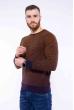 Джемпер с мелкими вкраплениями 520F005 темно-синий / светло-коричневый