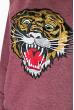 Свитшот женский с нашивкой «Тигр» 82PD919 бордовый