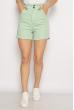 Модные джинсовые шорты 639F002 мятный
