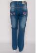 Джинсы для девочек 125P021 junior синий