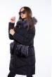 Женская куртка с мехом на карманах 120PSKL2169 черный