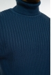 Гольф теплый шерстяной 700F1832 темно-синий