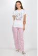 Пижама женская 317F025 бело-розовый