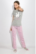 Пижама женская 317F025 серо-розовый