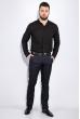 Рубашка мужская, однотонная 511F009 черный