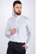 Рубашка мужская, однотонная 511F009 голубой