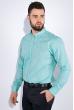 Рубашка мужская, однотонная 511F009 мятный