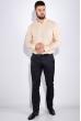 Рубашка мужская, однотонная 511F009 бежевый