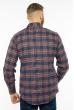 Рубашка в клетку 201P019 темно-синий / бордо