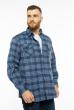 Рубашка в клетку 201P019 темно-серый / голубой