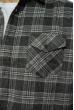 Рубашка в клетку 201P019 темно-серый / серый