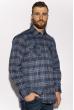Рубашка в клетку 201P019 темно-серый / синий