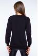Свитшот женский с принтом на груди  600F007 черный
