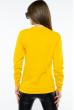 Свитшот женский с принтом на груди  600F007 желтый
