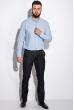 Деловая однотонная рубашкка 511F018 голубой