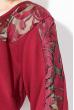 Платье (батал)  с вставкой на рукаве 81PD343 марсала