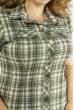 Блуза в клетку  118P263 оливковый