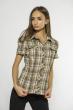 Блуза в клетку  118P263 коричневый