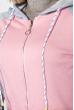 Толстовка женская на змейке 224V001 серо-розовый