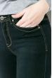 Джинсы женские по фигурке 516K003 чернильно-черный