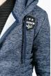 Батник мужской стильный 630K011 синий