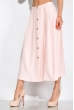 Костюм (топ на бретелях и юбка миди) 120PVC198 светло-розовый