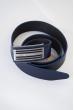 Ремень кожаный 03006 темно-синий