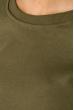 Свитшот женский с  принтом на спине  32P042 хаки
