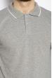 Поло с полосками на воротнике 624F013 светло-серый меланж
