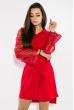 Платье с кружевными рукавами 95P8027 красный