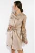 Платье с кружевными рукавами 95P8027 телесный